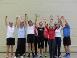 Fitnesstraining-Gruppe