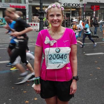 Joanna beim Berlin-Marathon