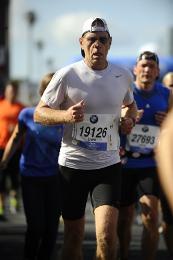Ume bei seinem ersten Marathon