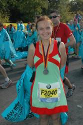 Joanna beim Berlin-Marathon 2012